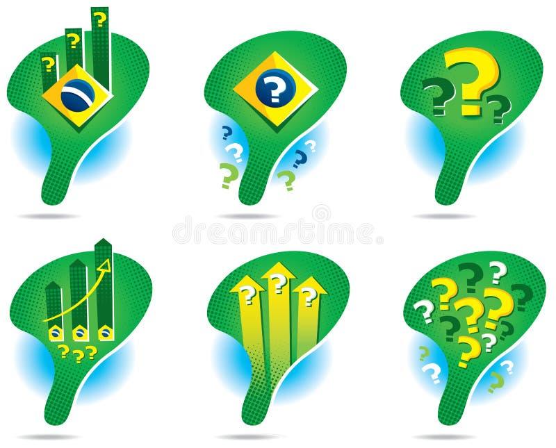 Значки карты Бразилии иллюстрация вектора