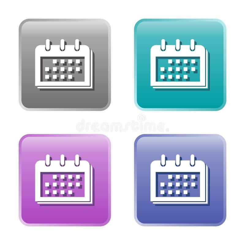 Значки календаря бесплатная иллюстрация