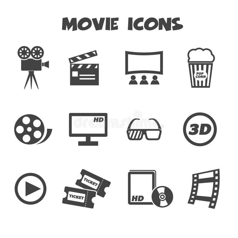 Значки кино иллюстрация вектора
