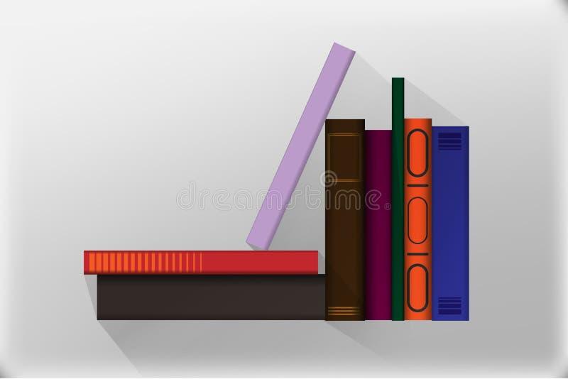 Значки книги в плоском стиле дизайна Иллюстрация вектора изолированный иллюстрация штока