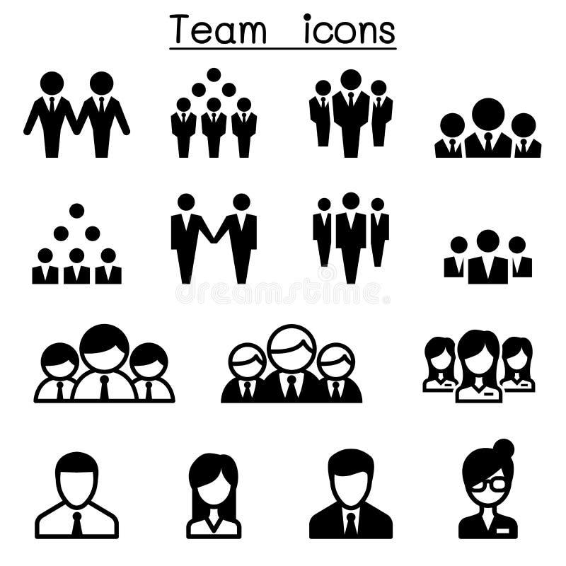 Значки команды иллюстрация штока