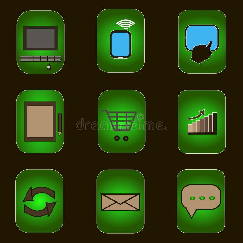 Значки компьютера стоковые изображения rf