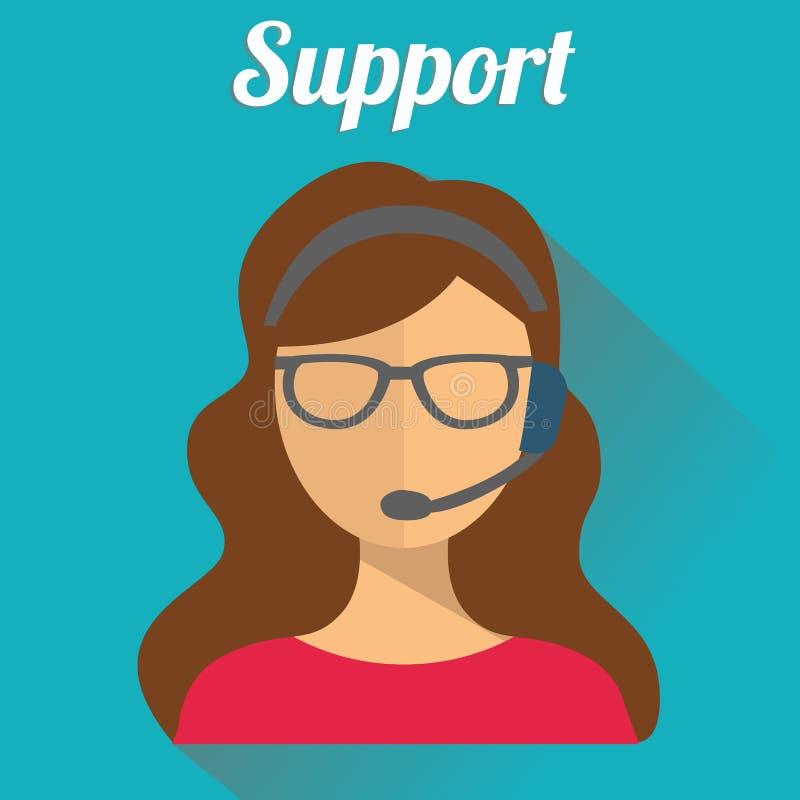 Значки концепции обслуживания заботы делового клиента плоские устанавливают контакта нас поддержать для того чтобы помочь звонку  бесплатная иллюстрация