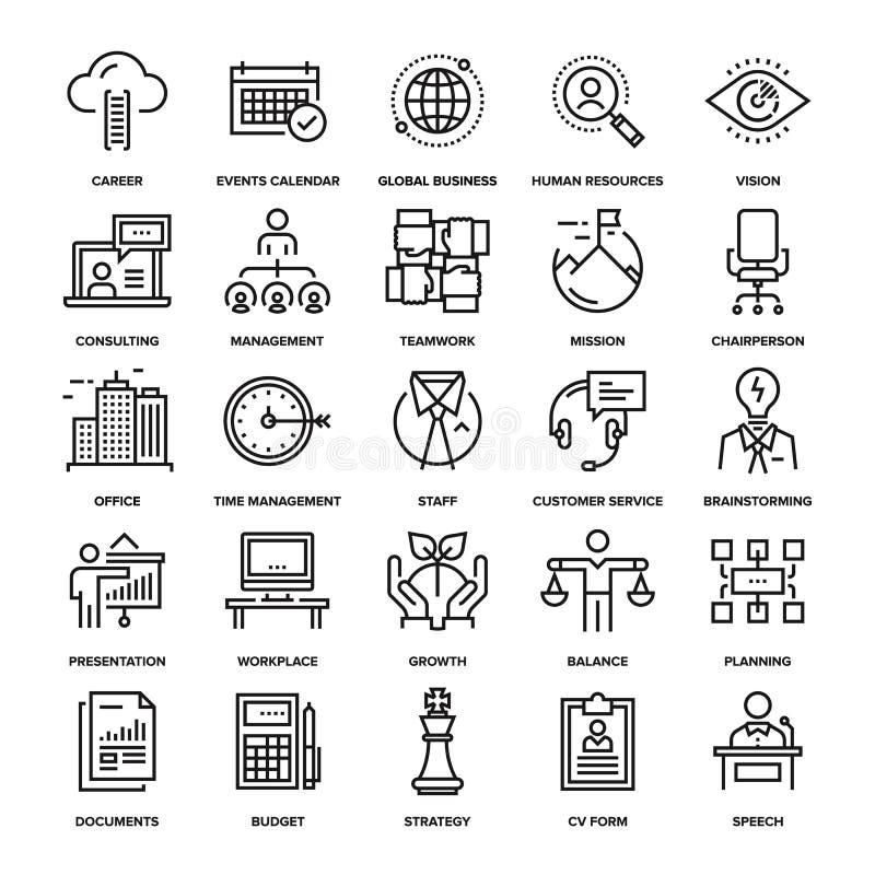 Значки корпоративного бизнеса иллюстрация вектора