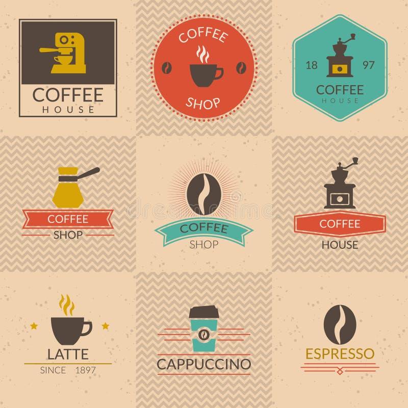 Значки кофейни бесплатная иллюстрация