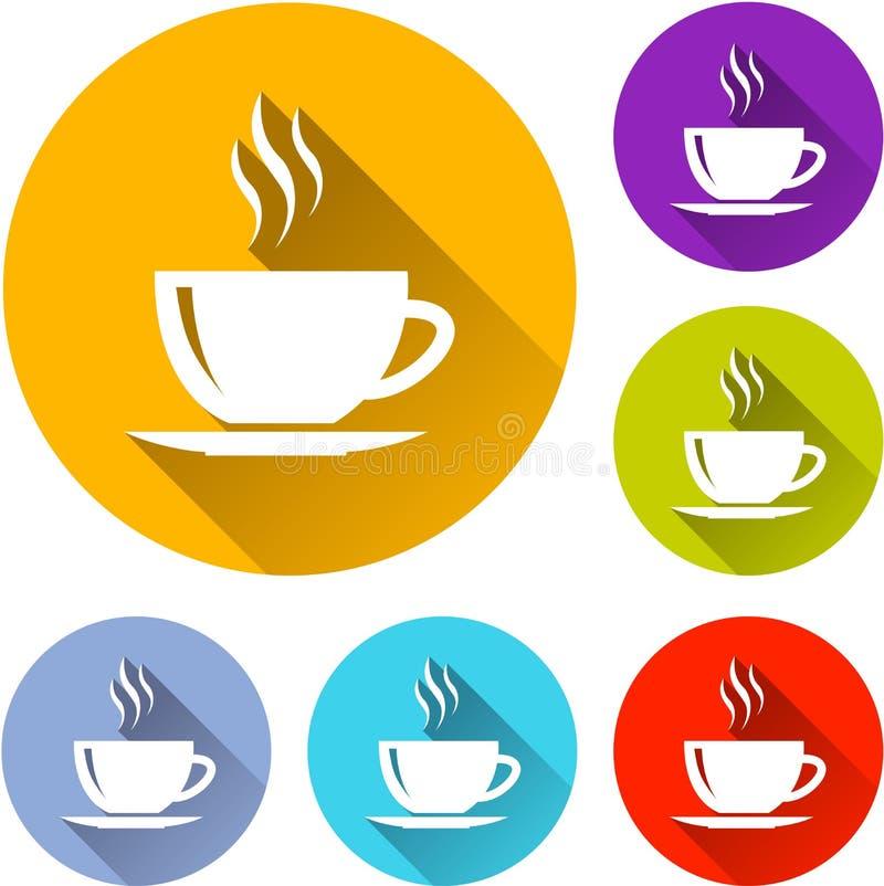 Значки кофейной чашки бесплатная иллюстрация