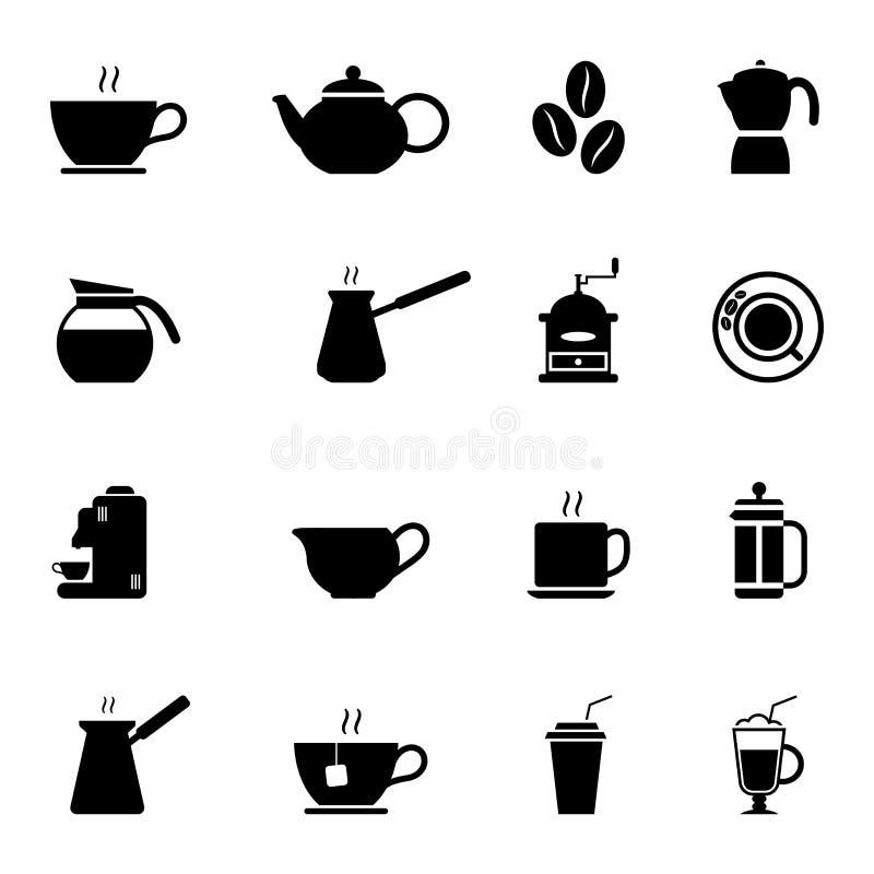 Значки кофе иллюстрация вектора