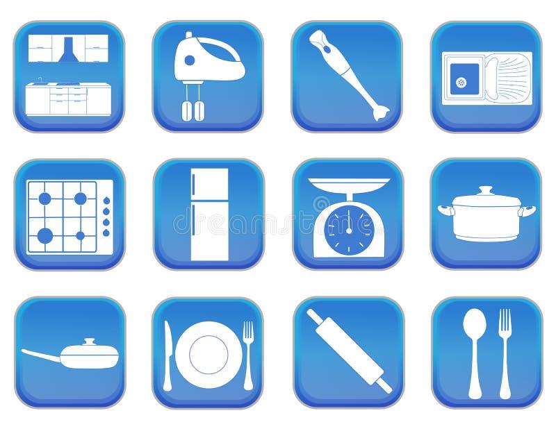 Значки 1 кухни иллюстрация вектора