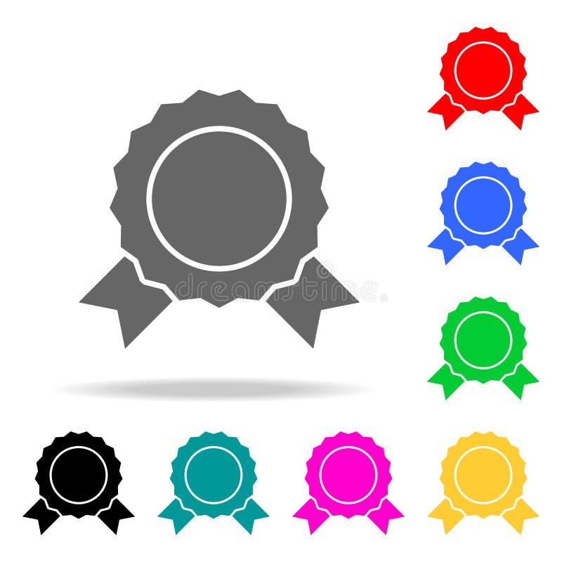Значки медали Элементы человеческой значков покрашенных сетью Наградной качественный значок графического дизайна Простой значок д иллюстрация вектора