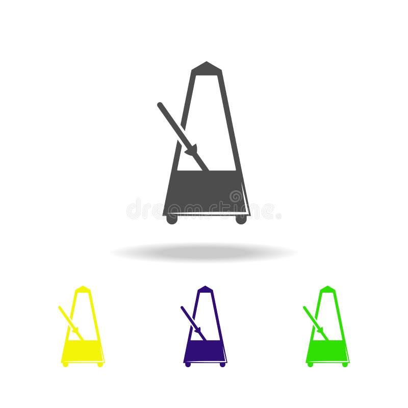 значки метронома пестротканые Элемент значка музыки Знаки и значок для вебсайтов, веб-дизайн собрания символов, мобильное приложе иллюстрация штока