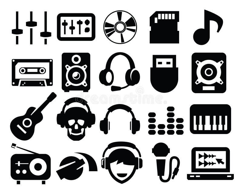 Значки музыки иллюстрация вектора