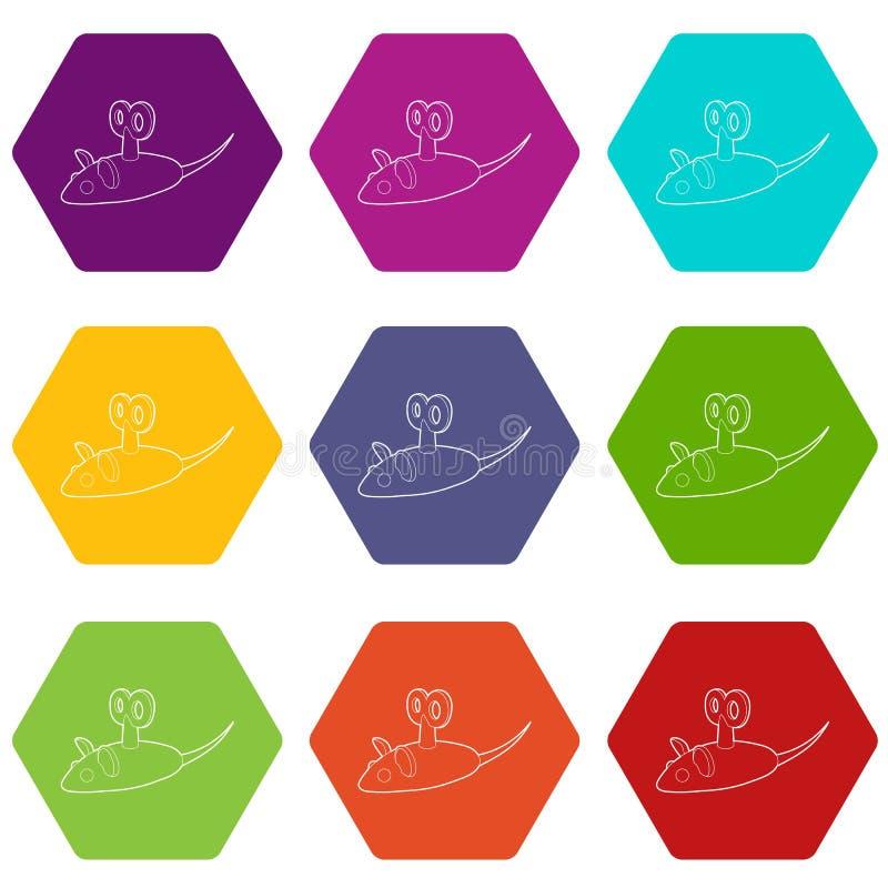 Значки мыши Clockwork установили вектор 9 иллюстрация штока