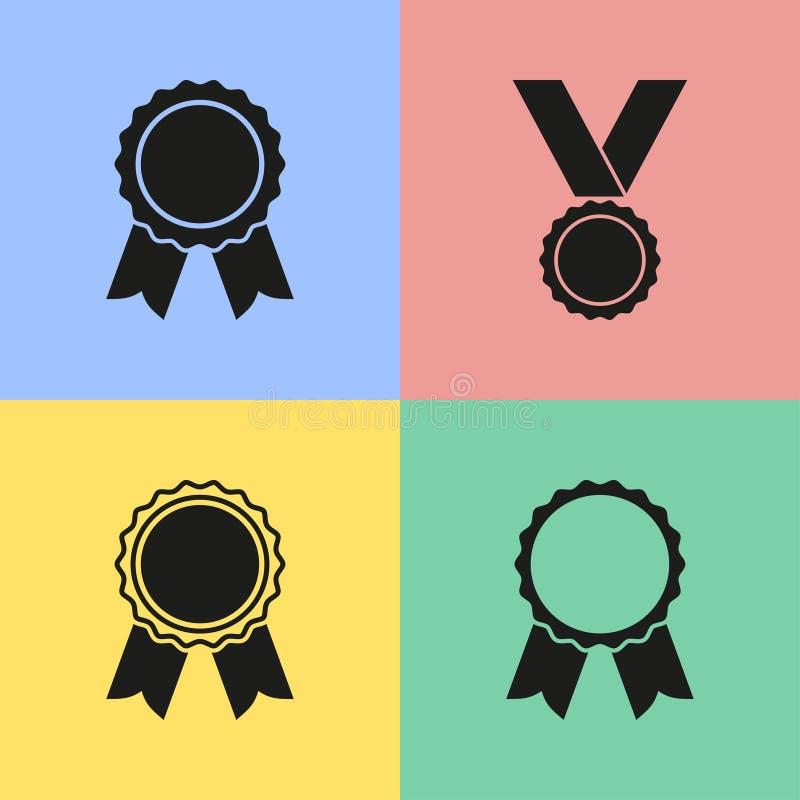 Значки награды иллюстрация вектора