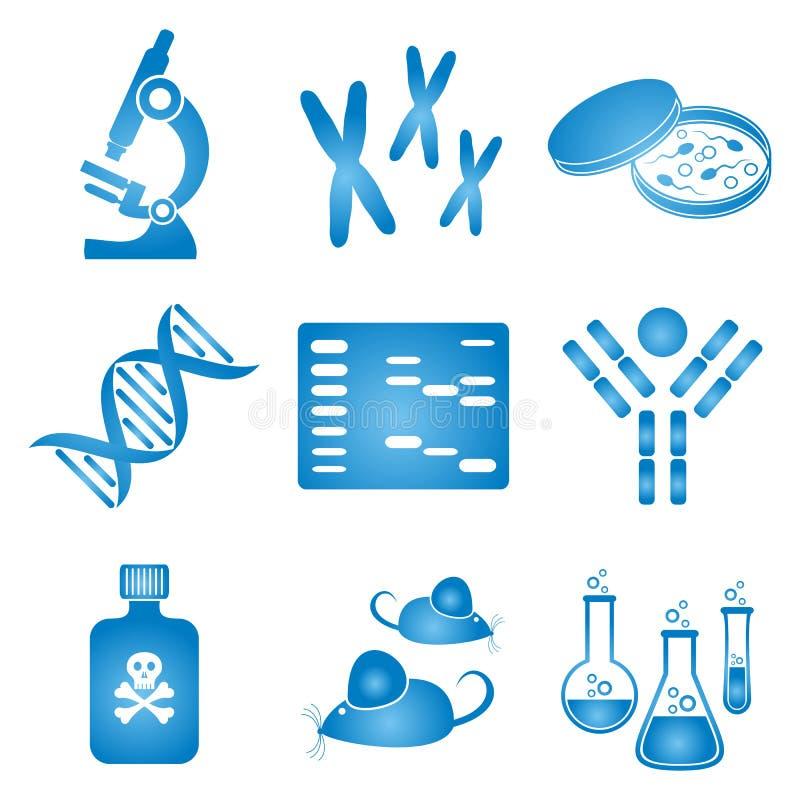 Значки науки биологии бесплатная иллюстрация
