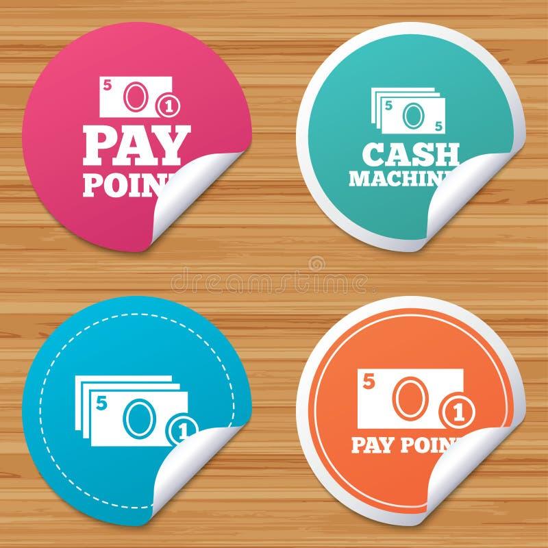 Download Значки наличных денег и монетки Машины денег или ATM Иллюстрация вектора - иллюстрации насчитывающей bendable, кнопка: 81804741