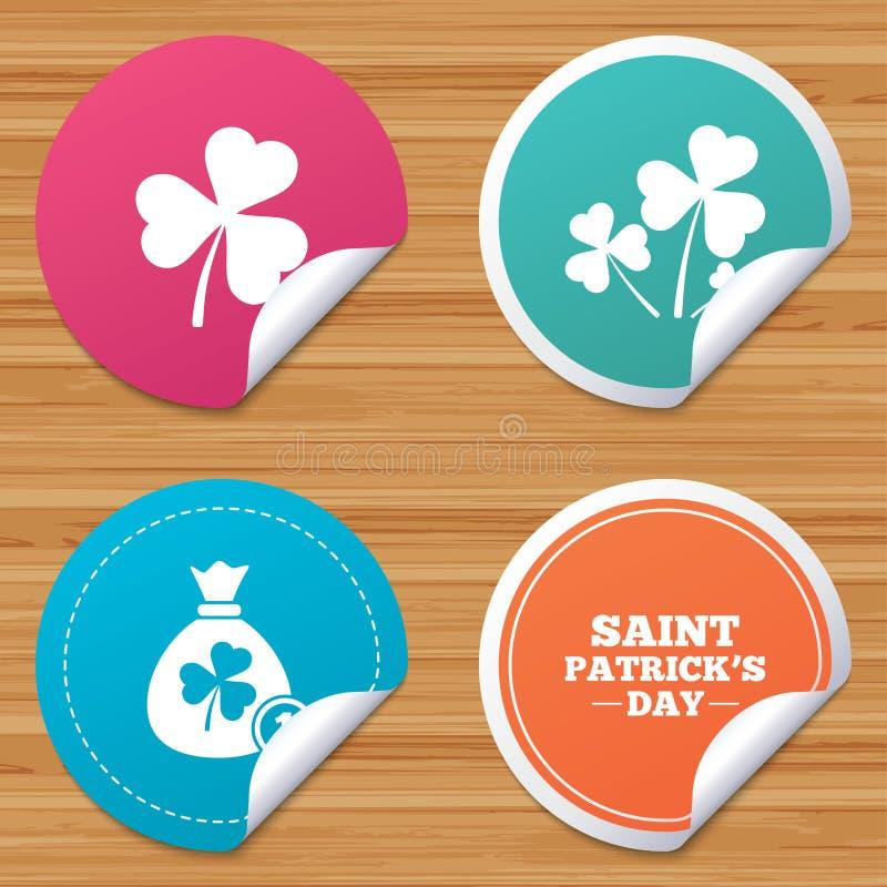 Download Значки дня St. Patrick Сумка денег с монеткой Иллюстрация вектора - иллюстрации насчитывающей кругло, святой: 81804717