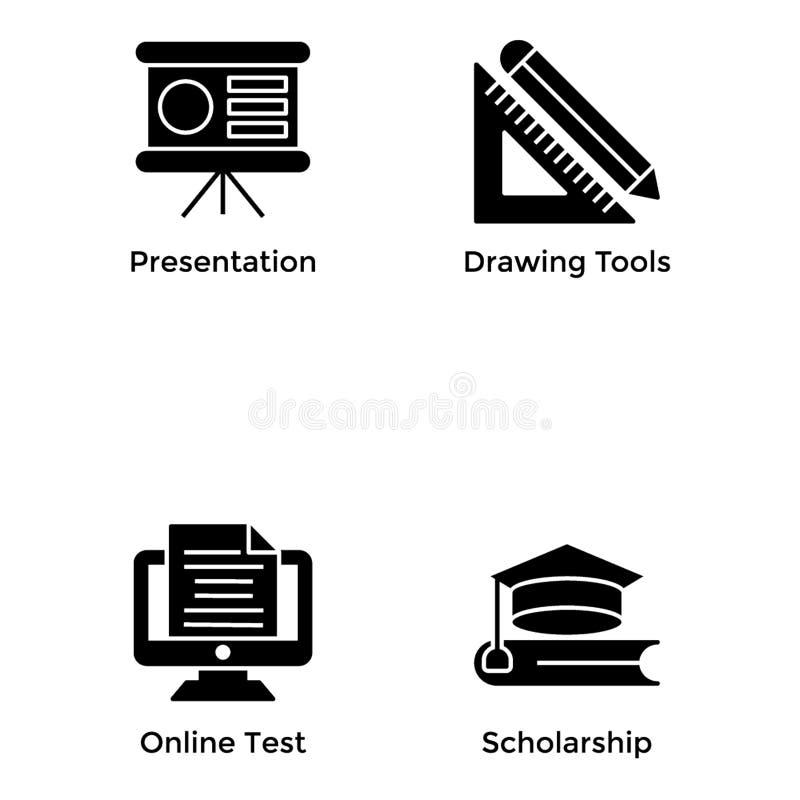 Значки образования связывают иллюстрация штока