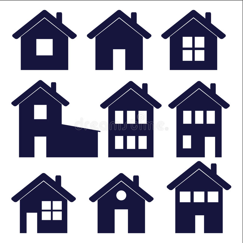 Значки дома иллюстрация штока