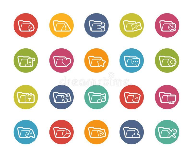 Значки папки - 2 из 2 -- Серия Printemps бесплатная иллюстрация