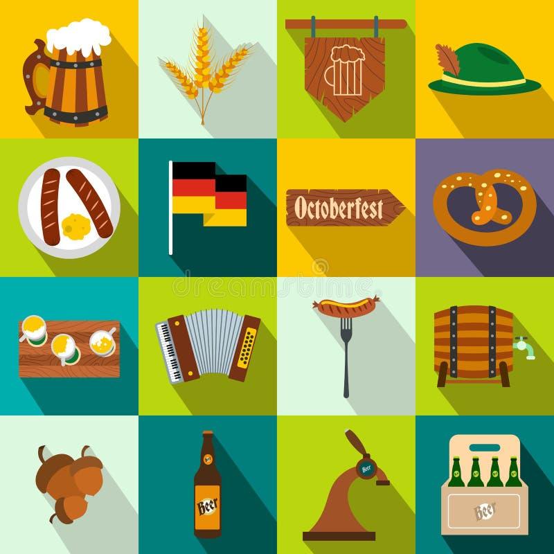 Значки партии Oktoberfest плоские иллюстрация штока