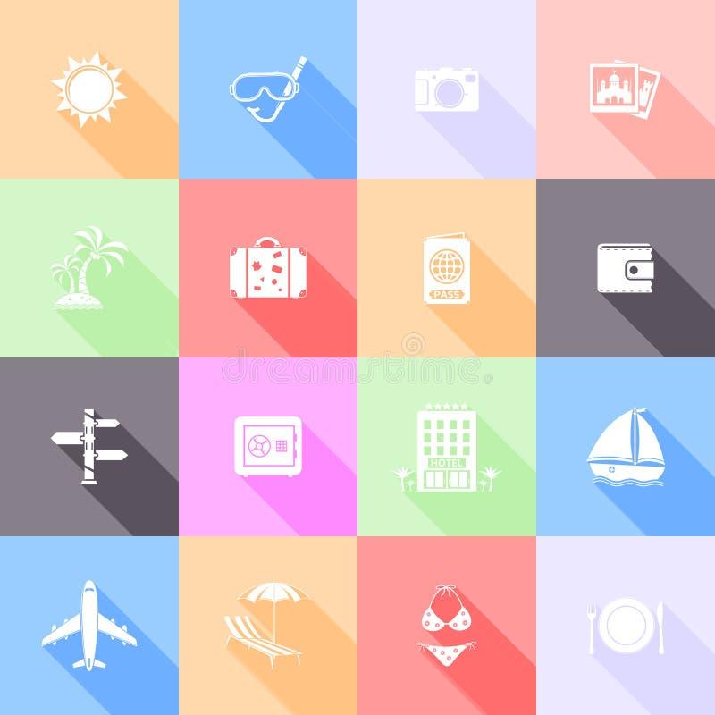 Значки перемещения плоские бесплатная иллюстрация