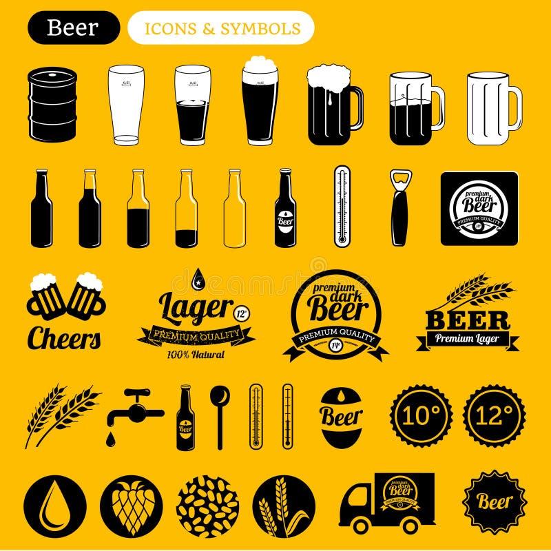 Значки пива бесплатная иллюстрация