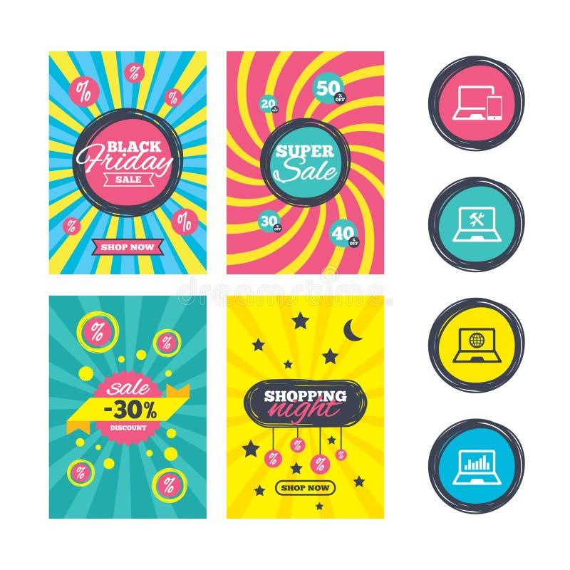 Download Значки ПК компьтер-книжки тетради Отремонтируйте обслуживание починки Иллюстрация вектора - иллюстрации насчитывающей обслуживание, аналитиков: 81804440