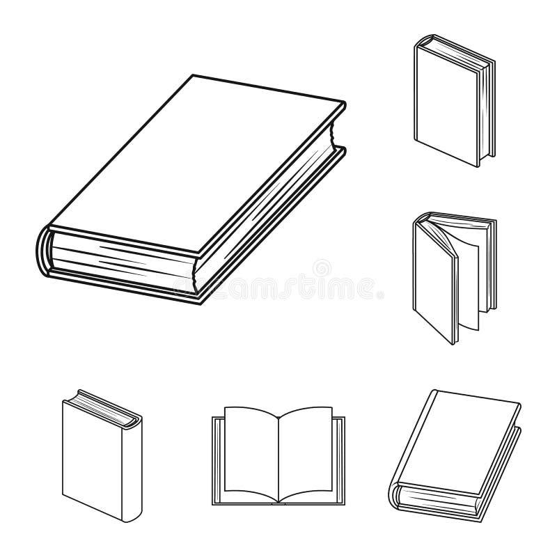 Значки плана книги связанные в собрании комплекта для дизайна Напечатанная иллюстрация сети запаса символа вектора продуктов бесплатная иллюстрация