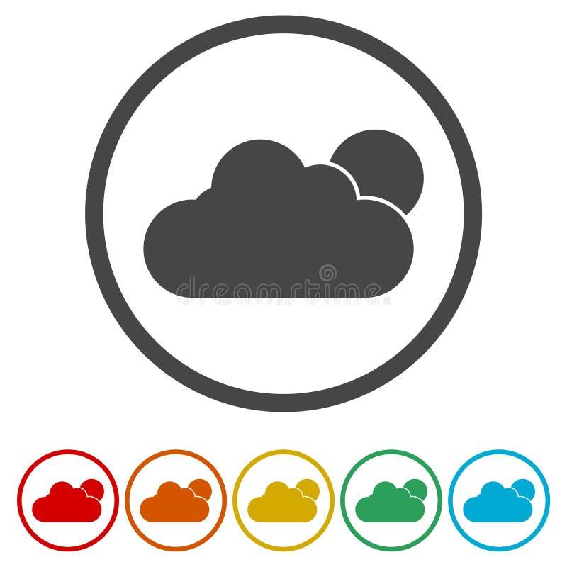 Значки погоды красят дизайн иллюстрация штока
