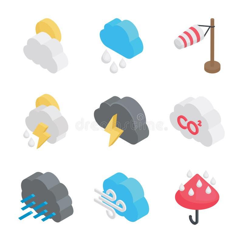 Значки погоды родственные бесплатная иллюстрация