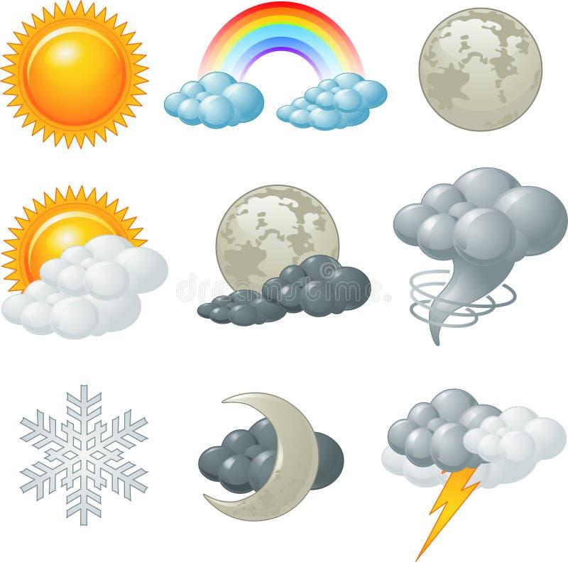 Значки погоды бесплатная иллюстрация