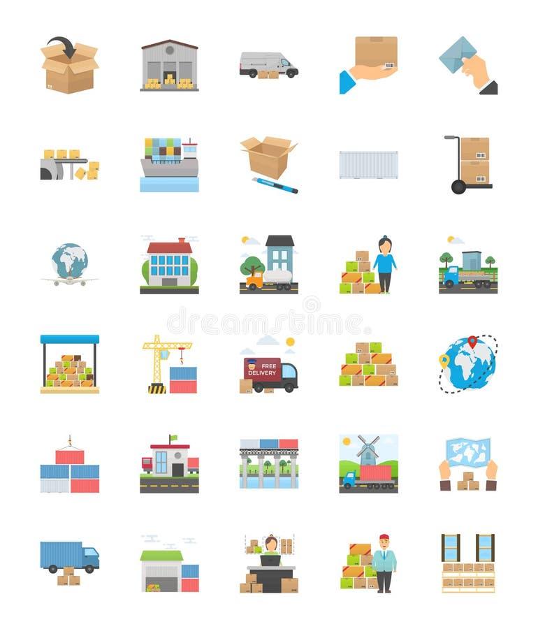 Значки поставки снабжения бесплатная иллюстрация