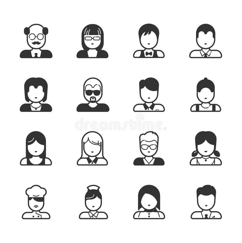 Значки потребителя и значки людей бесплатная иллюстрация