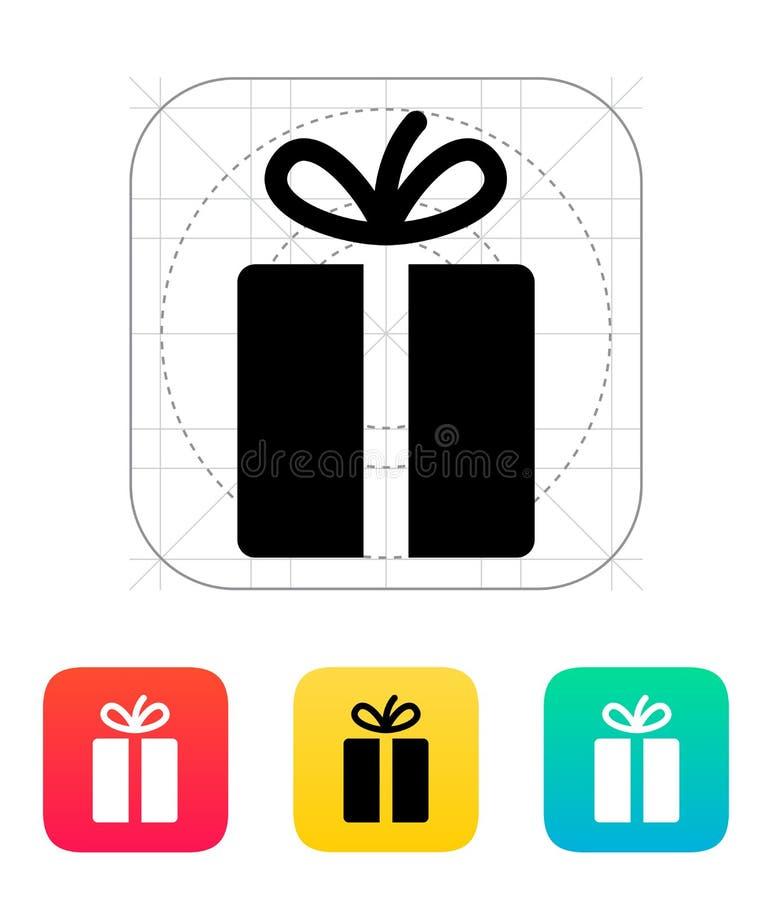Значки подарка на белой предпосылке. иллюстрация штока
