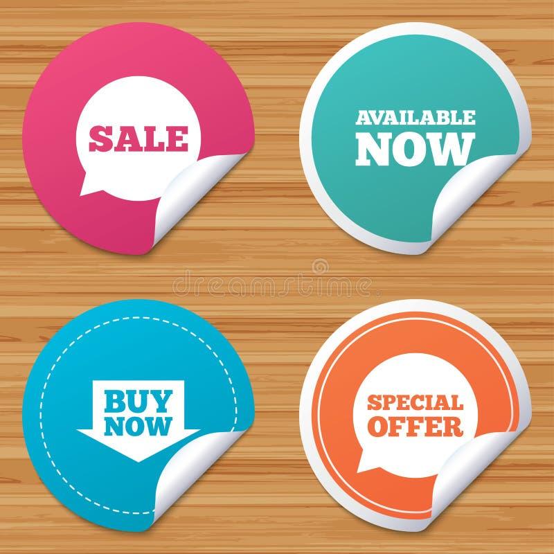 Download Значки продажи Символы пузырей речи специального предложения Иллюстрация вектора - иллюстрации насчитывающей предложение, badged: 81805442