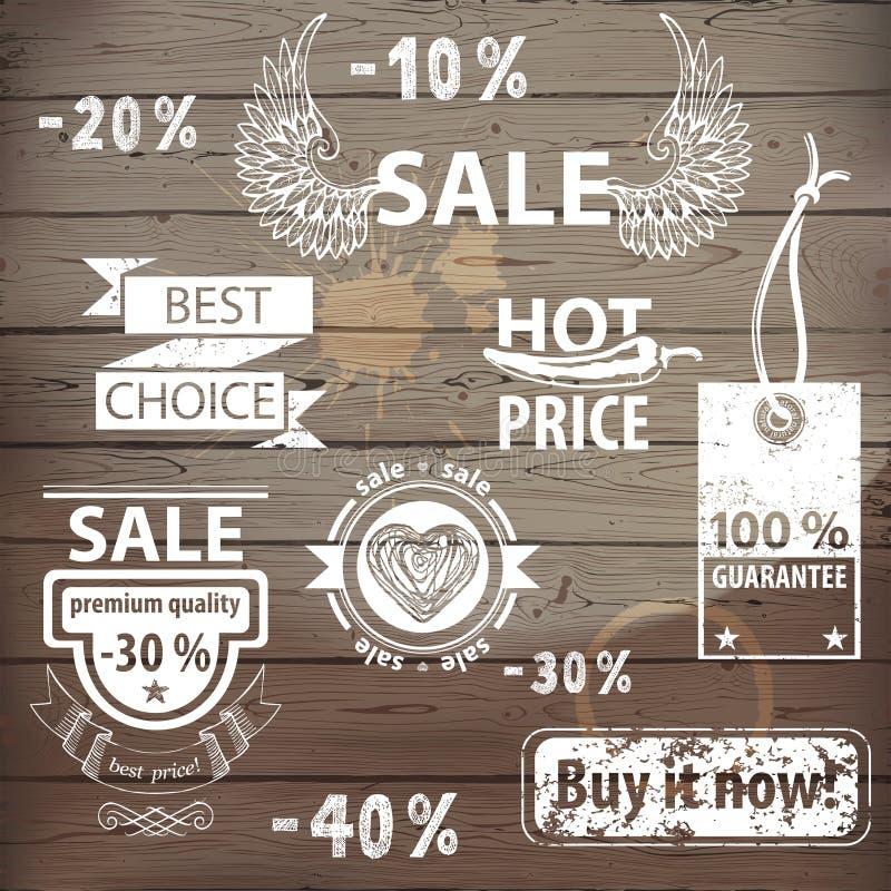 Значки продажи бесплатная иллюстрация