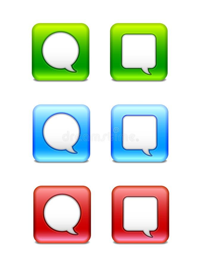 Значки пузыря речи бесплатная иллюстрация