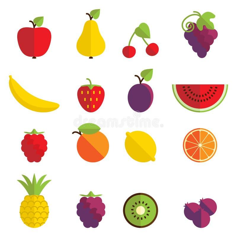 Значки плодоовощ бесплатная иллюстрация