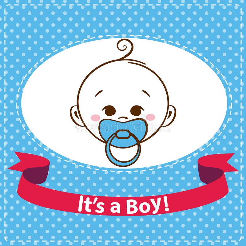 Значки ребёнка изолированные на белой предпосылке иллюстрация штока