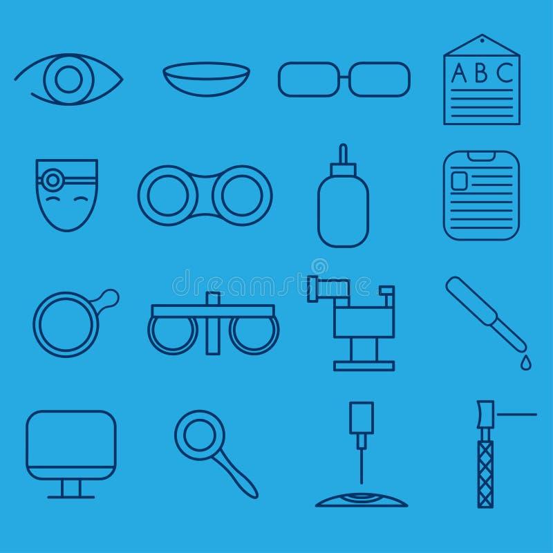 значки ремесла установленные офтальмологии и optometry иллюстрация штока
