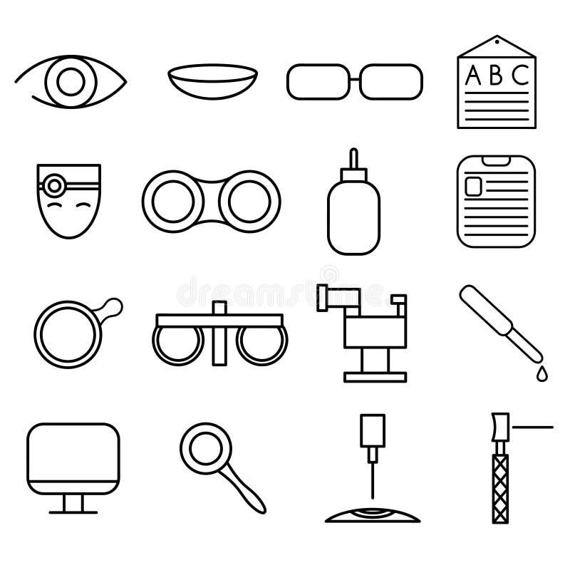 значки ремесла установленные офтальмологии и optometry бесплатная иллюстрация