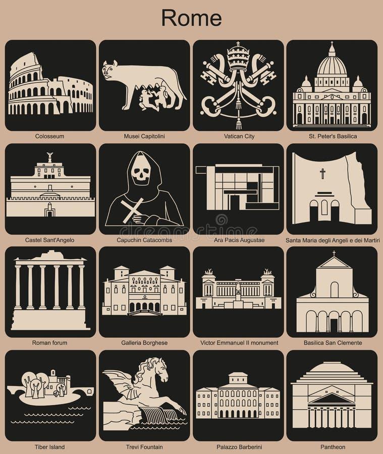 Значки Рима иллюстрация штока
