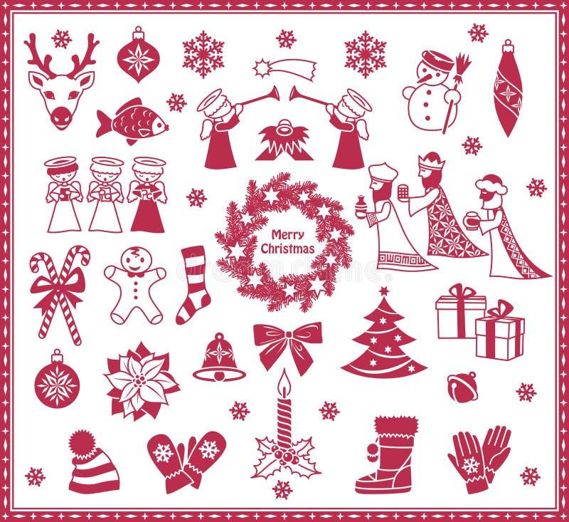 Значки рождества бесплатная иллюстрация
