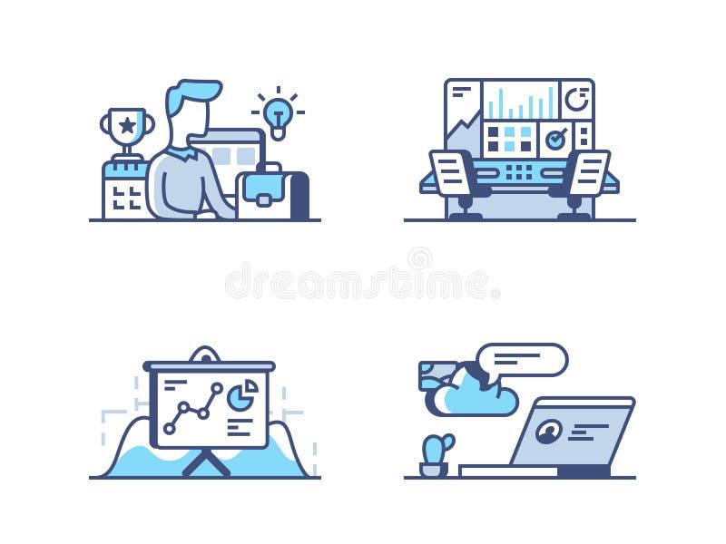 Значки руководства бизнесом бесплатная иллюстрация