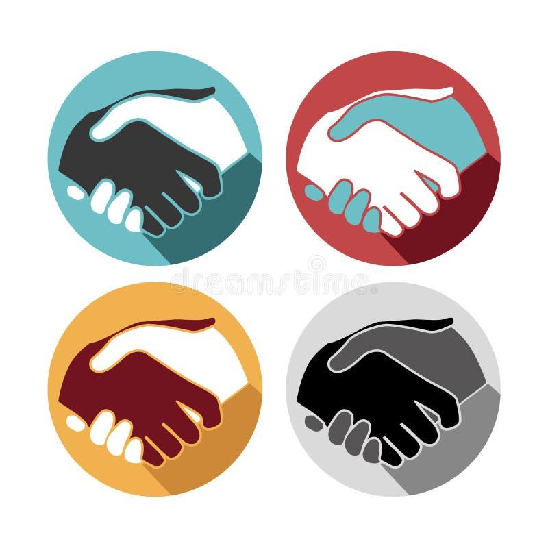 Download Значки рукопожатия установленные Иллюстрация вектора - иллюстрации насчитывающей дело, символ: 40576811