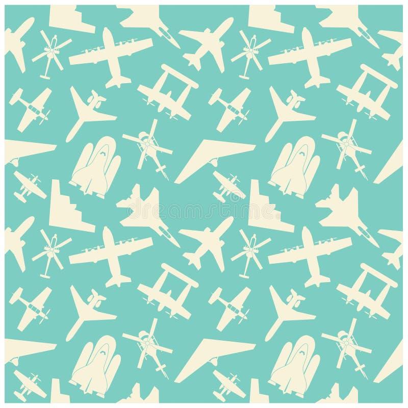 значки самолета и предпосылка, картина иллюстрация штока