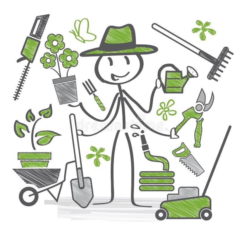 Значки садовника бесплатная иллюстрация
