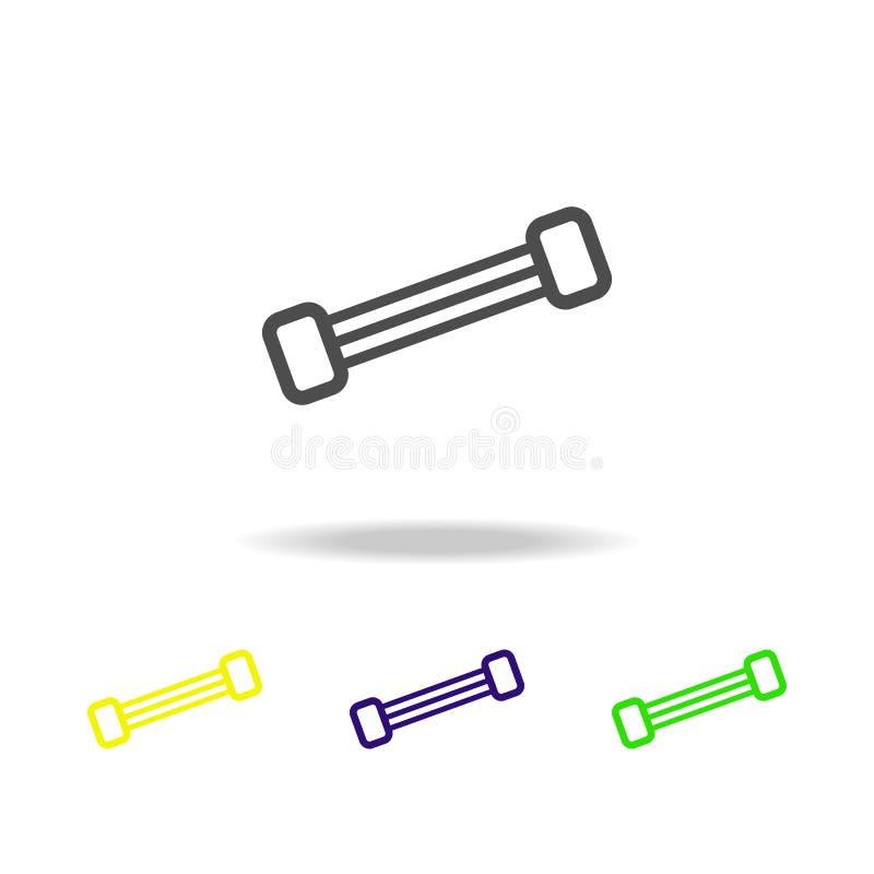 значки светлых гантелей пестротканые Элемент значка спорта можно использовать для сети, логотипа, мобильного приложения, UI, UX бесплатная иллюстрация