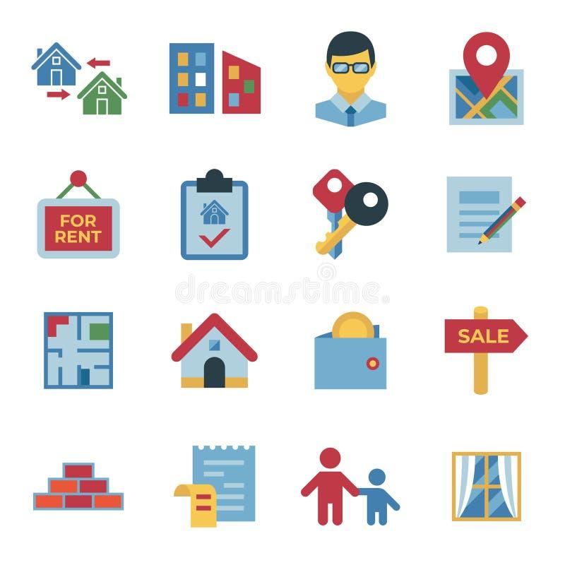 Значки свойства недвижимости и снабжения жилищем бесплатная иллюстрация