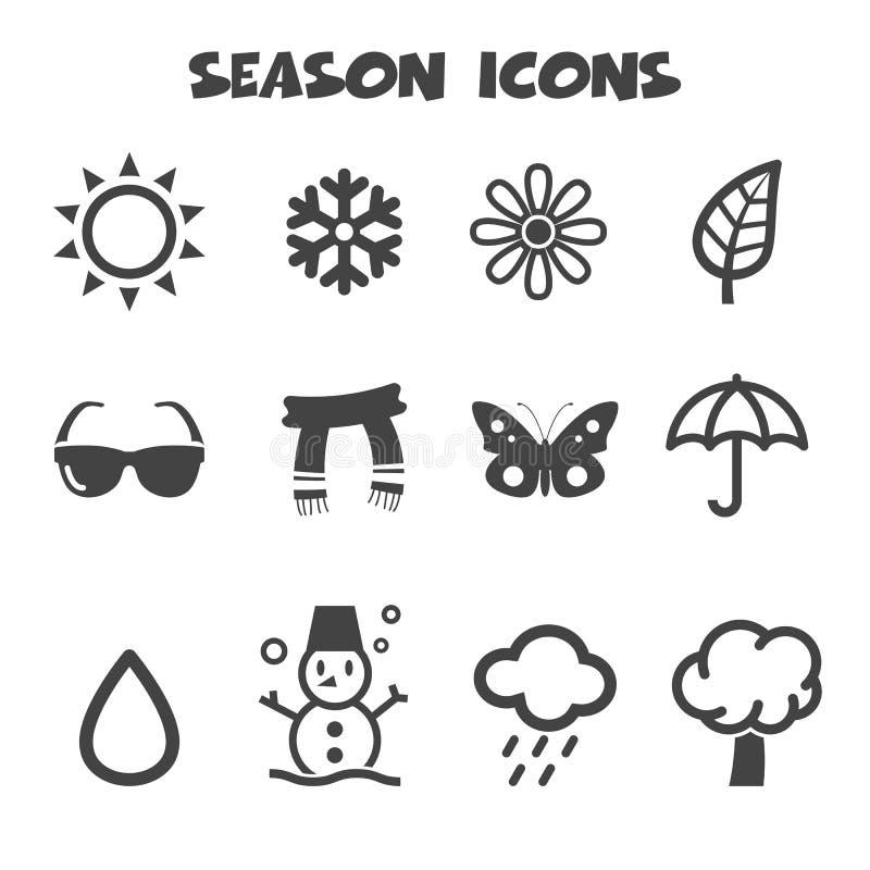 Значки сезона иллюстрация вектора